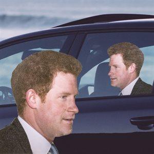 AUTOCOLLANT POUR VOITURE Prince Harry