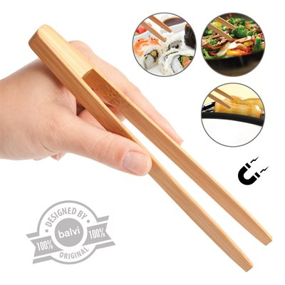 TOASTS & MORE BAMBOO TONGS-Single Pack