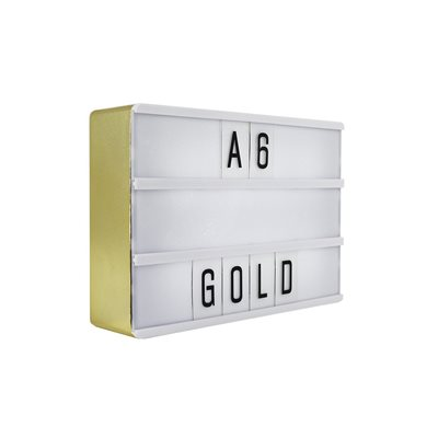 Mini Magnetic Lightbox-Gold
