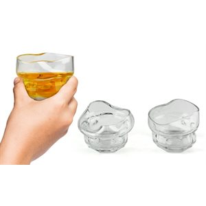 Charred Whiskey Glasses
