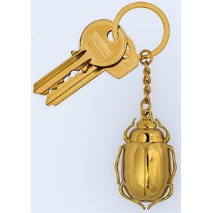 Beetle Keychain Gold