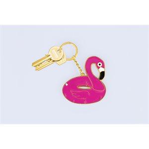 Oversized Pink Flamingo keychain