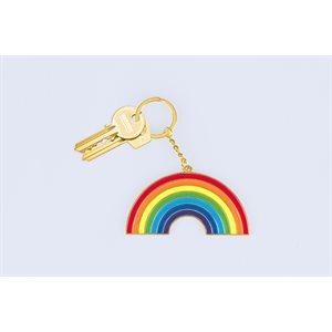 Oversized Rainbow keychain