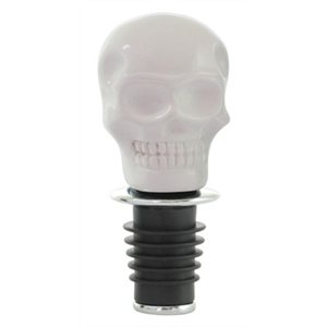 Skull Bottle Stopper-White