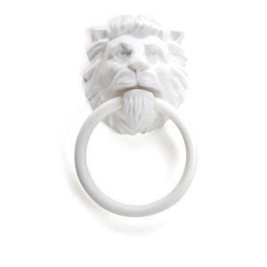 Lion's Head Towel Holder-White
