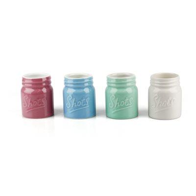 Mason Jar Ceramic shot glasses