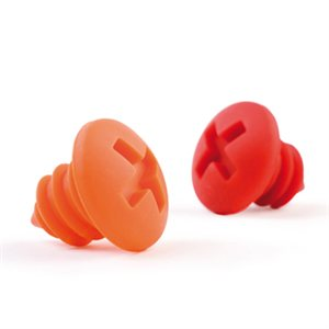 Bottle Screws Red & Orange