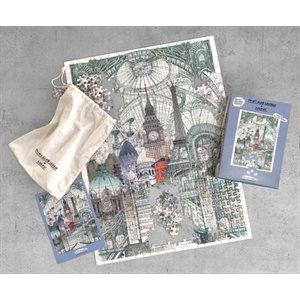 Print Club Puzzle-London, Paris, Brussels