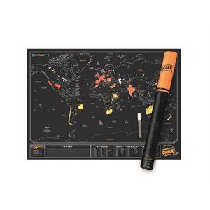 Chalk Edition Scratch Map