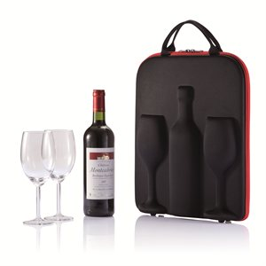 Swirl Wine Carrier with Glasses