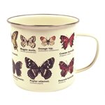 TASSE EN ÉMAIL papillons