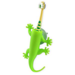 Larry the Lizard Toothbrush Holder-Green